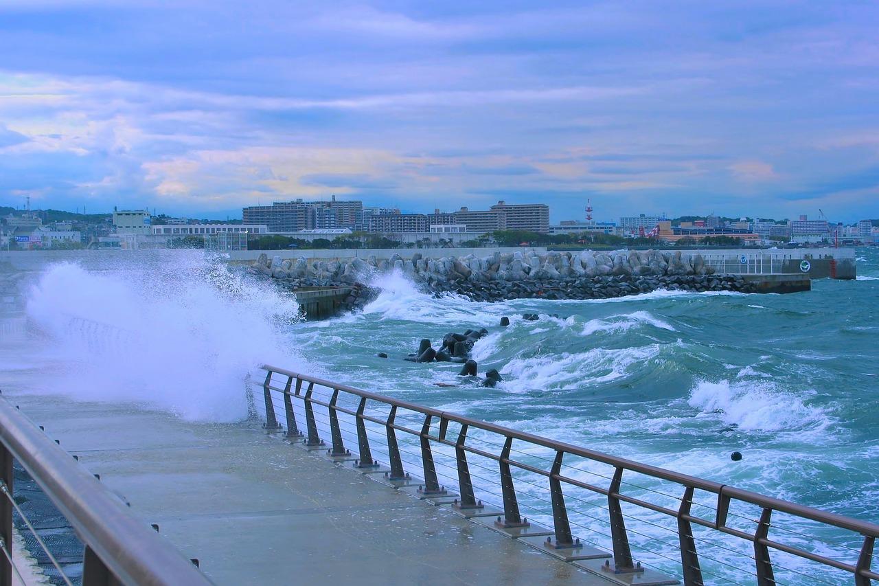 台風 海水