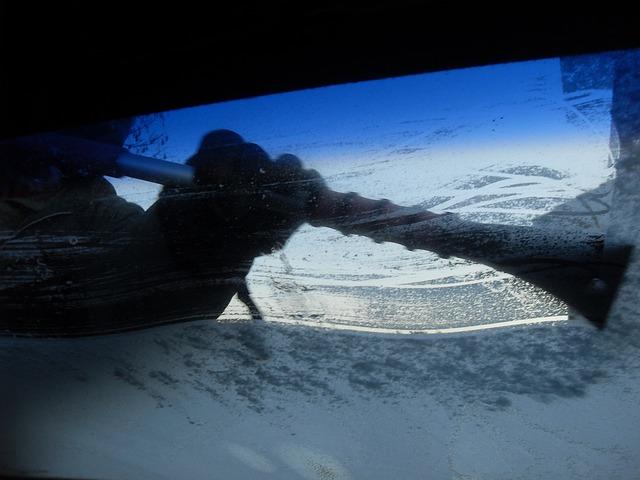 雪かき(フロントガラス)
