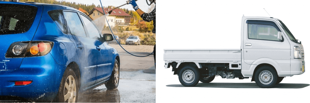 軽トラック_高圧洗浄機