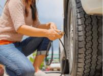 タイヤ空気圧確認